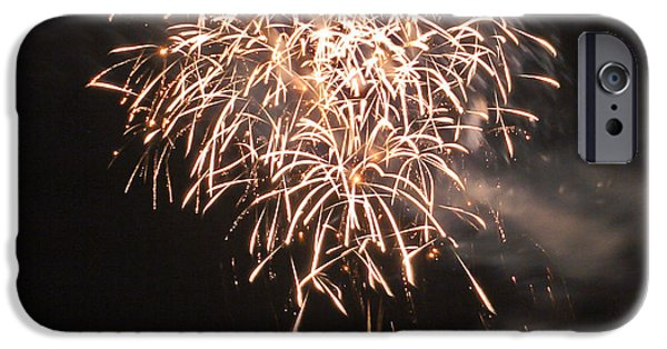 4th Of July iPhone Cases - Lopez Island Fireworks 2 iPhone Case by David Salter
