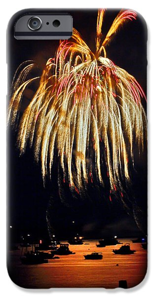 4th Of July iPhone Cases - Lopez Island Fireworks 5 iPhone Case by David Salter