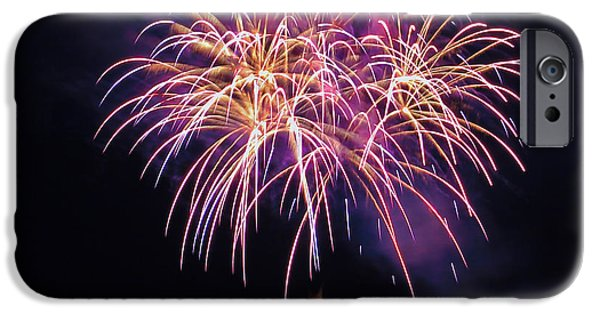 4th Of July iPhone Cases - Lopez Island Fireworks 8 iPhone Case by David Salter