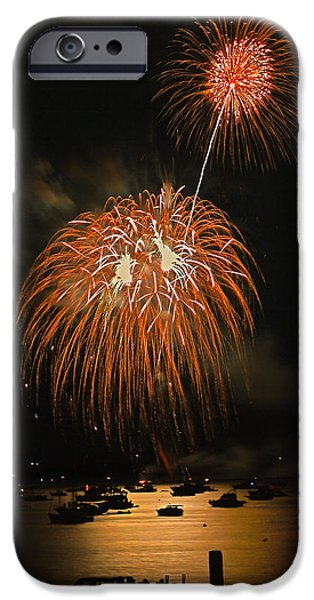 4th Of July iPhone Cases - Lopez Island Fireworks 9 iPhone Case by David Salter