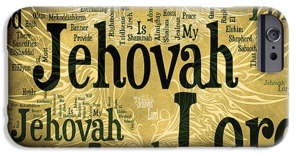 Bridegroom iPhone Cases - Lord Jehovah 2 iPhone Case by Angelina Vick