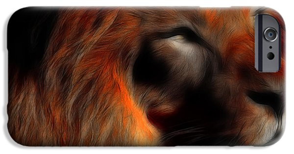 The Tiger iPhone Cases - Lord of The Jungle iPhone Case by Wingsdomain Art and Photography