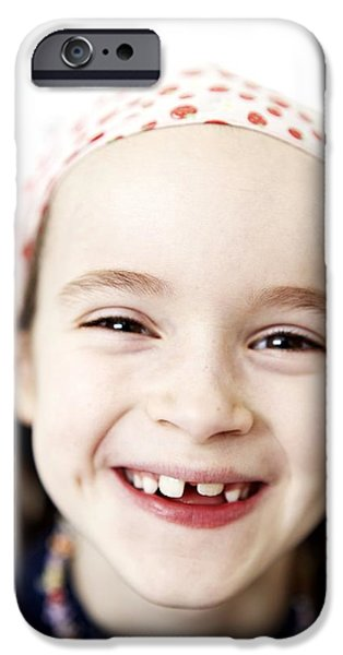 Missing Child iPhone Cases - Loss Of Milk Teeth iPhone Case by Ian Boddy