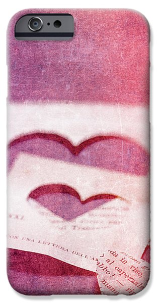 Heart iPhone Cases - Lost Hearts iPhone Case by Rebecca Cozart