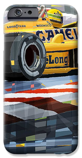 Lotus 99T 1987 Ayrton Senna iPhone Case by Yuriy  Shevchuk