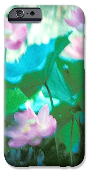 Lotus--Ethereal Impressions ii 20A1 iPhone Case by Gerry Gantt