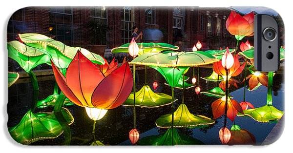 Installation Art Photographs iPhone Cases - Lotus Flower iPhone Case by Semmick Photo