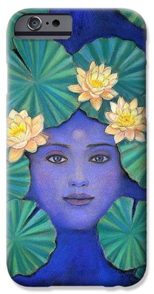Spiritual Pastels iPhone Cases - Lotus Nature iPhone Case by Sue Halstenberg