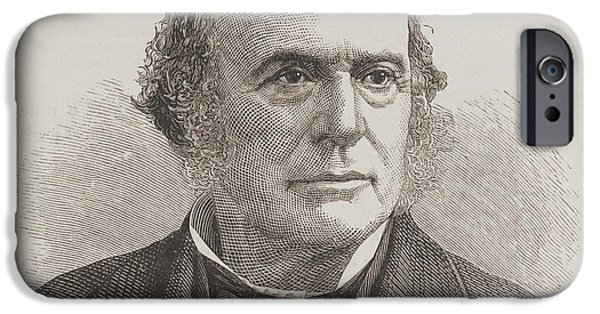 Smithsonian iPhone Cases - Louis Agassiz, Swiss-american Polymath iPhone Case by Science Source