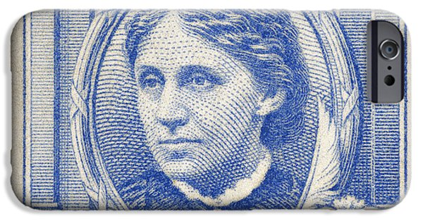 Louisa May Alcott iPhone Cases - Louisa May Alcott (1832-1888) iPhone Case by Granger