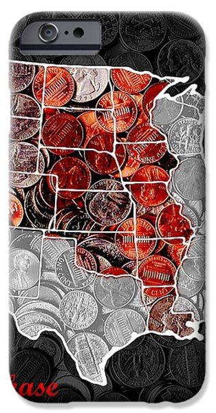 Louisiana Purchase Coin Map . v1 iPhone Case by Wingsdomain Art and Photography