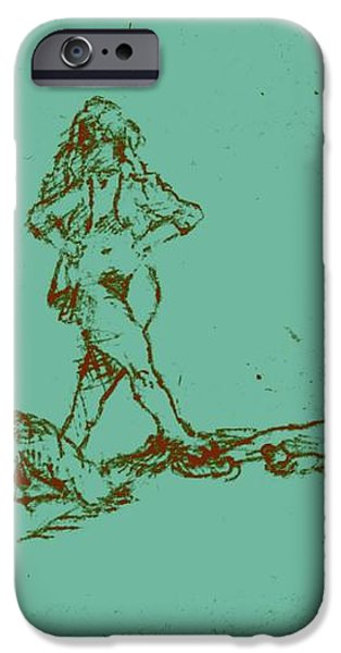 Lounging Nude Females iPhone Case by Sheri Parris