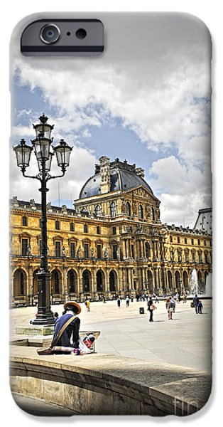 Louvre museum iPhone Case by Elena Elisseeva