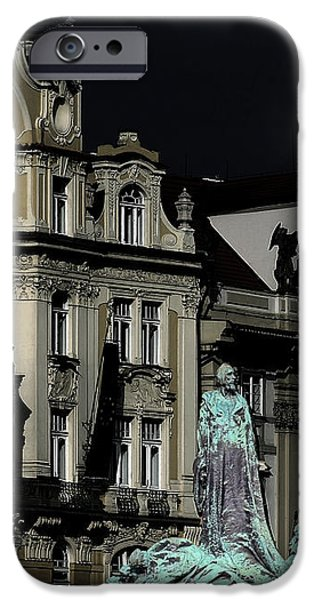 Love each other and wish the truth to everyone - Jan Hus Prague iPhone Case by Christine Till