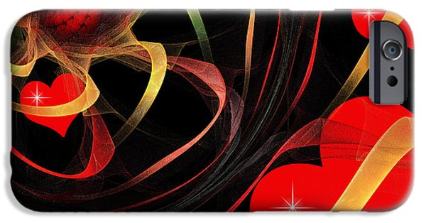 Fine Art Fractal iPhone Cases - Love Is A Gift From The Heart iPhone Case by Andee Design
