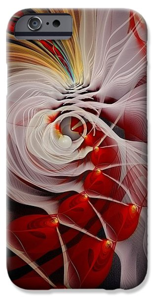 Love is Like a Fire iPhone Case by Gayle Odsather