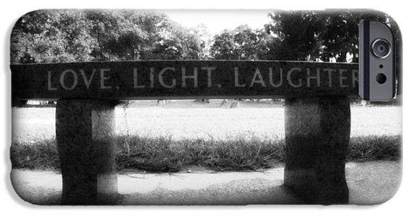 Grave Yard iPhone Cases - Love Light Laughter iPhone Case by Mandy Shupp