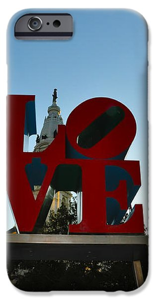 Love Park in Philadelphia iPhone Case by Bill Cannon