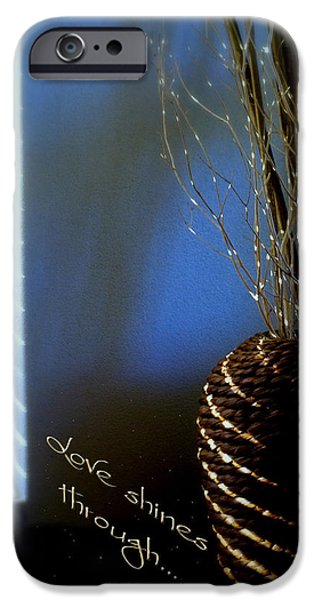 Blind iPhone Cases - Love Shines Through iPhone Case by Holly Kempe