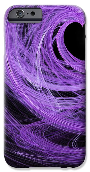 Love Swirls . A120423.689 iPhone Case by Wingsdomain Art and Photography