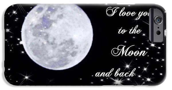 Missing Child iPhone Cases - Love you to the moon and back iPhone Case by Michelle Frizzell-Thompson
