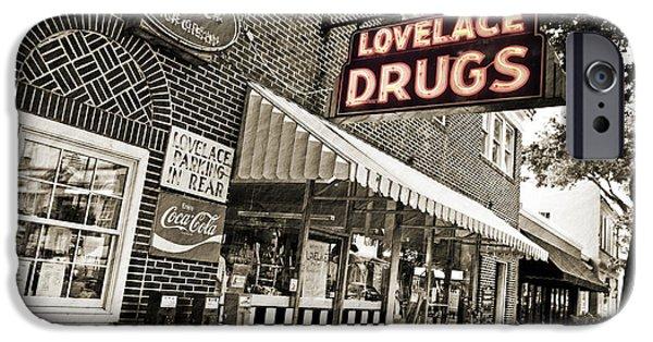 Scott Pellegrin Photography iPhone Cases - Lovelace Drugs iPhone Case by Scott Pellegrin