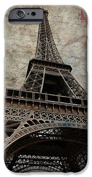 Loveletter iPhone Cases - Loveletter From Paris iPhone Case by Claudia Moeckel