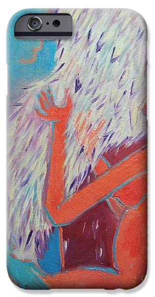 LOVING MY ANGEL iPhone Case by ANA MARIA EDULESCU