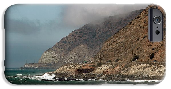 Pch iPhone Cases - Low Clouds on the Pacific Coast Highway iPhone Case by John Rizzuto