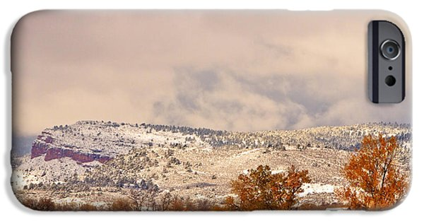 Winter Storm iPhone Cases - Low Winter Storm Clouds Colorado Rocky Mountain Foothills 6 iPhone Case by James BO  Insogna