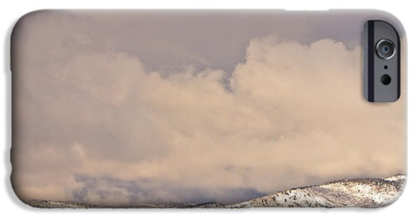 Winter Storm iPhone Cases - Low Winter Storm Clouds Colorado Rocky Mountain Foothills 8 iPhone Case by James BO  Insogna