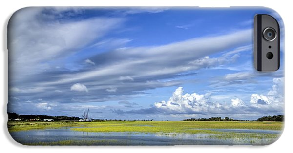 Floods Photographs iPhone Cases - Lowcountry Flood Tide II iPhone Case by Dustin K Ryan