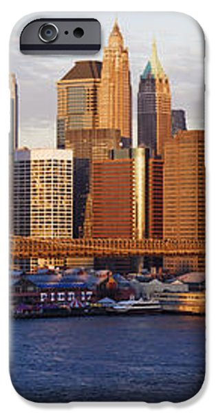 Lower Manhattan and the Brooklyn Bridge iPhone Case by Jeremy Woodhouse