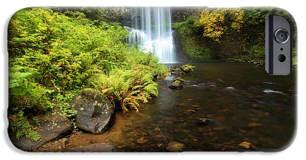State Parks In Oregon iPhone Cases - Lower South Falls iPhone Case by Adam Jewell