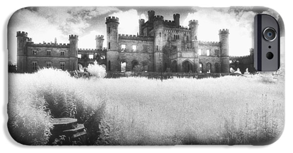 Haunted House iPhone Cases - Lowther Castle iPhone Case by Simon Marsden