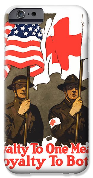 Flag iPhone Cases - Loyalty To One Means Loyalty To Both iPhone Case by War Is Hell Store