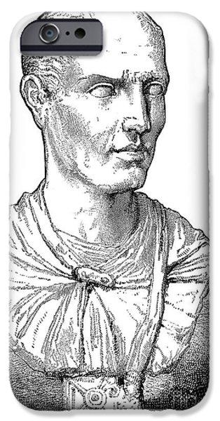 Statue Portrait iPhone Cases - Lucius Licinius Lucullus iPhone Case by Granger