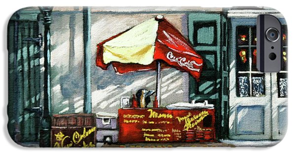 French Quarter Paintings iPhone Cases - Lucky Dogs iPhone Case by Dianne Parks