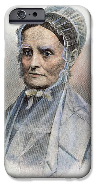 LUCRETIA COFFIN MOTT iPhone Case by Granger