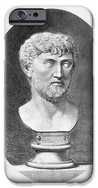 Best Sellers -  - Statue Portrait iPhone Cases - Lucretius (96 B.c.?-55 B.c.) iPhone Case by Granger
