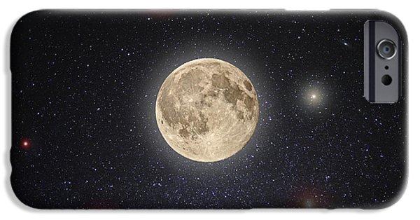 Moon iPhone Cases - Luna Lux iPhone Case by Steve Gadomski
