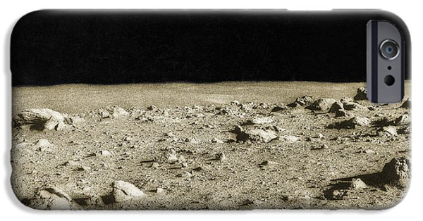 Color Enhanced iPhone Cases - Lunar Surface iPhone Case by Science Source