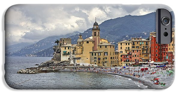 Genoa iPhone Cases - Lungomare in Camogli iPhone Case by Joana Kruse