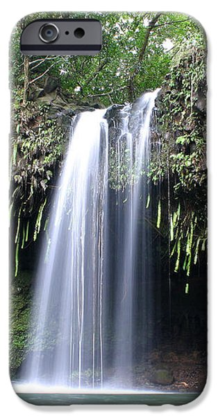 Lush tropical waterfall Twin Falls on Maui Hawaii iPhone Case by Pierre Leclerc Photography