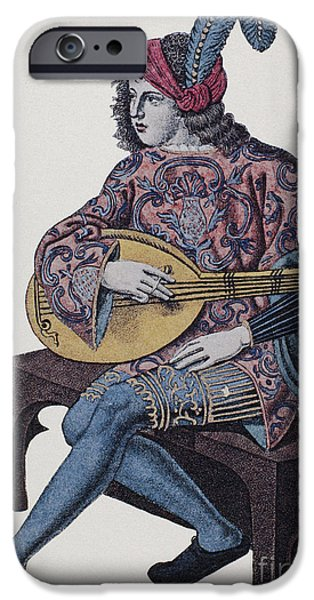 LUTE PLAYER, 1839 iPhone Case by Granger