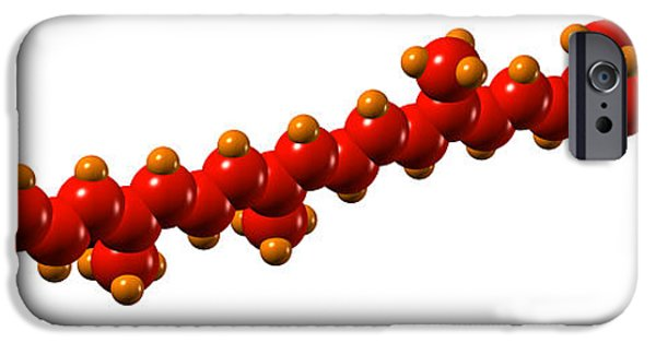 Berry iPhone Cases - Lycopene Plant Pigment Molecule iPhone Case by Dr Mark J. Winter