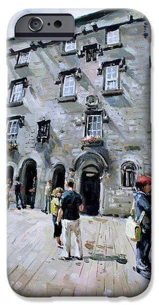 Stone Carving iPhone Cases - Lynches Castle Galway City iPhone Case by Conor McGuire