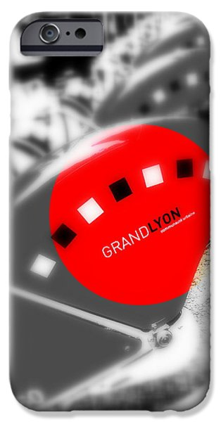 Lyon France iPhone Cases - Lyon Bikes for Rent iPhone Case by Funkpix Photo Hunter