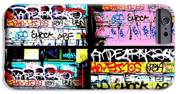 Lyon France iPhone Cases - Lyon Graffiti Walls iPhone Case by Funkpix Photo Hunter