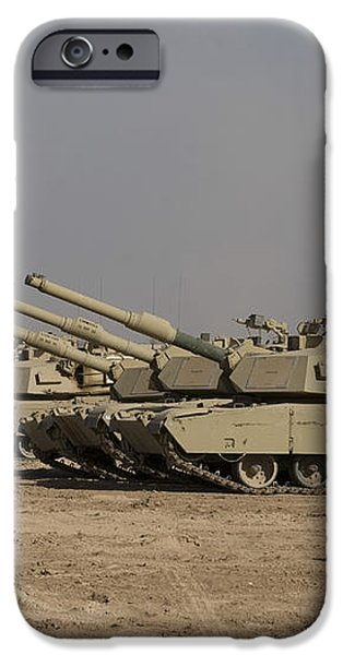 M1 Abrams Tanks At Camp Warhorse iPhone Case by Terry Moore